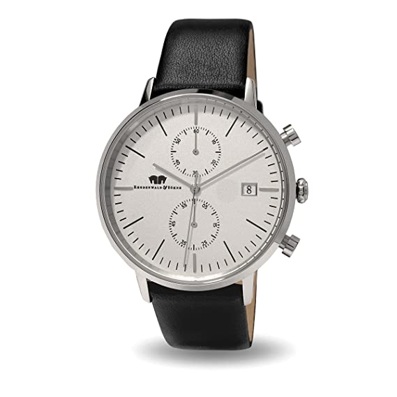 Rhodenwald & Söhne Reloj de caballero cronógrafo Hyperion Negro/Blanco
