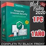 KASPERSKY INTERNET SECURITY 1 año 2020 1 PC licencia no disco