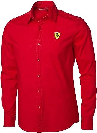 Scuderia Ferrari - Camisa casual - para hombre rojo XL: Amazon.es: Ropa y accesorios