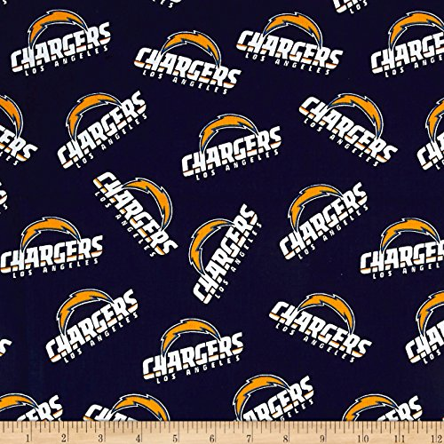 - Fabric Traditions NFL Cotton Broadcloth Los Angeles Chargers Navy Fabric by The Yard
