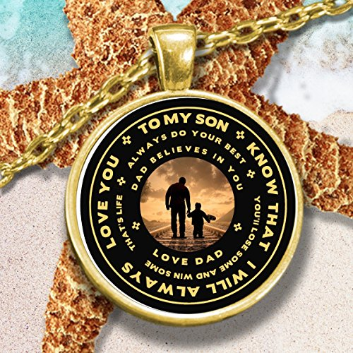 To My Son Necklace Gift From Dad Son Gift Necklace Mom
