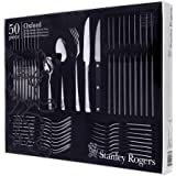 Stanley Rogers 50437 Oxford 50 Piece Cutlery Quality Stainless Steel with Steak Knives