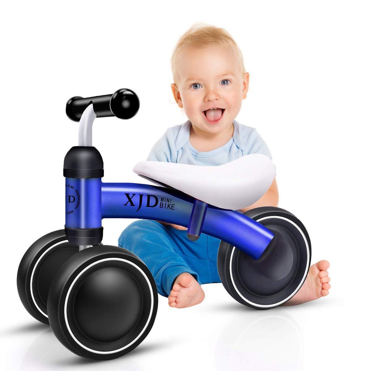 XJD Mini Trike Mini Bike For Toddlers, Kids Learn To Walk For 1-3 Years Old Kids No- Pedal 3 wheels Mini Balance Bike (Blue)