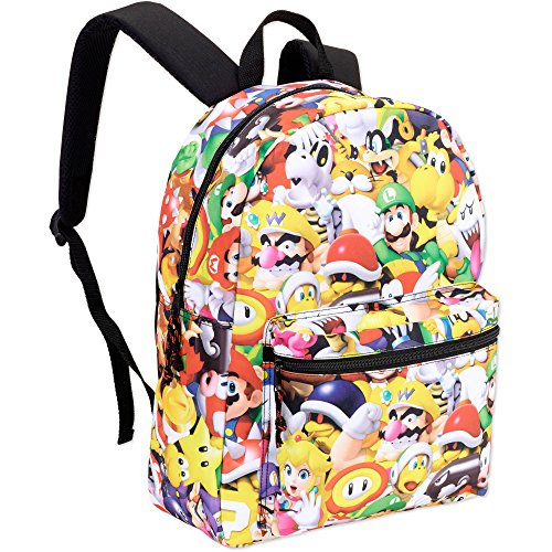 Price comparison product image Super Mario Bros. Comics Standard Size School Backpack - Kids