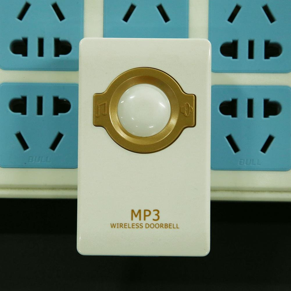 Whitelotous Electric MP3 Music Doorbell Chime Wireless Remote Control with Receiver