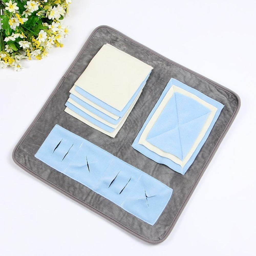F Desti Flakes Pet Bolster Dog Bed Comfort Pet Training Smelling pad can be Washable and Splicing pet Blanket (color   F)