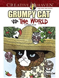 Creative Haven Grumpy Cat Vs The World Coloring Book Adult