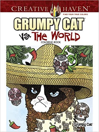 Amazon Creative Haven Grumpy Cat Vs The World Coloring Book Adult 9780486808147 Diego Jourdan Pereira Books