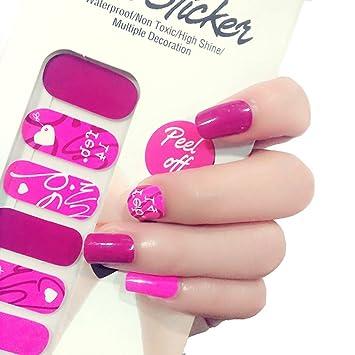 Amazon Com X T Nail Polish Strips Pink Valentine S Day Nail Sticker