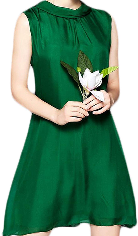 DarkCom Moda Mujer Primavera Temperamento Color Seda Corbata Sin ...