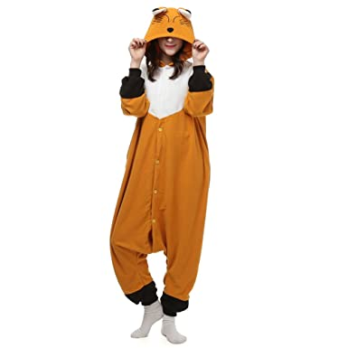 25c0ffcd35 Amazon.com  Unisex Adult Fox Onesies Animal Cosplay Costume for Halloween  Xmas