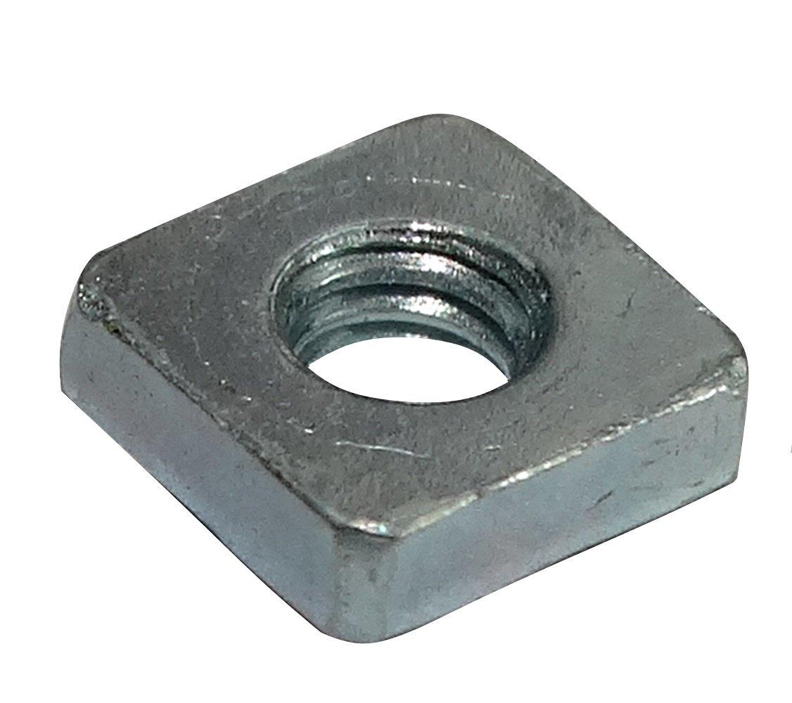 AERZETIX: 100x Tuercas cuadradas M2.5 5mm H1.6mm DIN562 acero galvanizado C19213 C19213-AQ192 x100