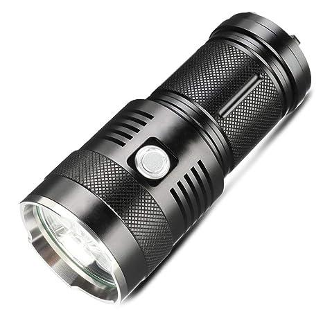 MUTANG Linterna LED Recargable de Alta Potencia 5 Tipos de luz ...