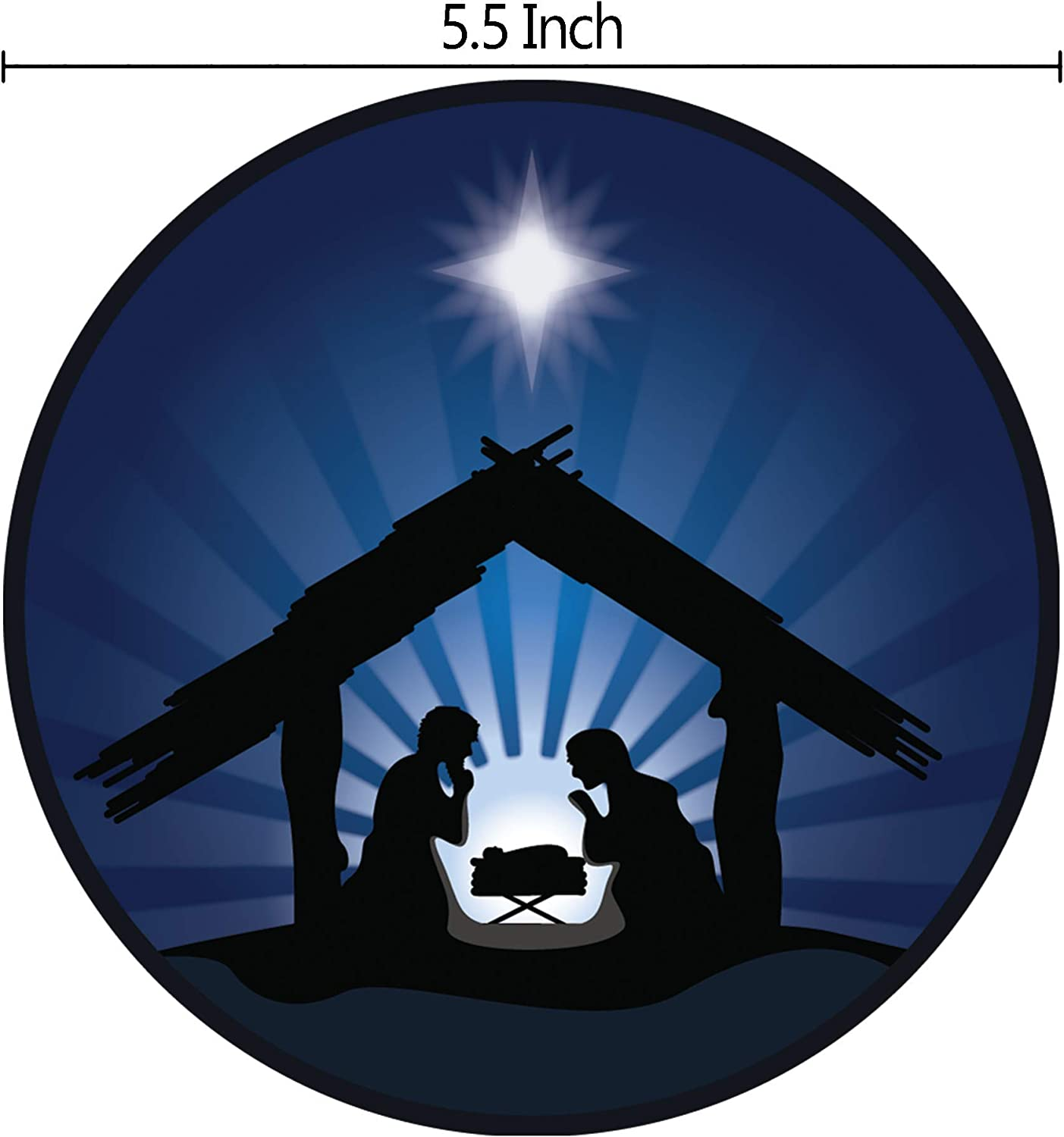 Silhouette 3 Kings Sheperds and Nativity Christmas Car Magnet Bumper Decal 5 1//2 Inch