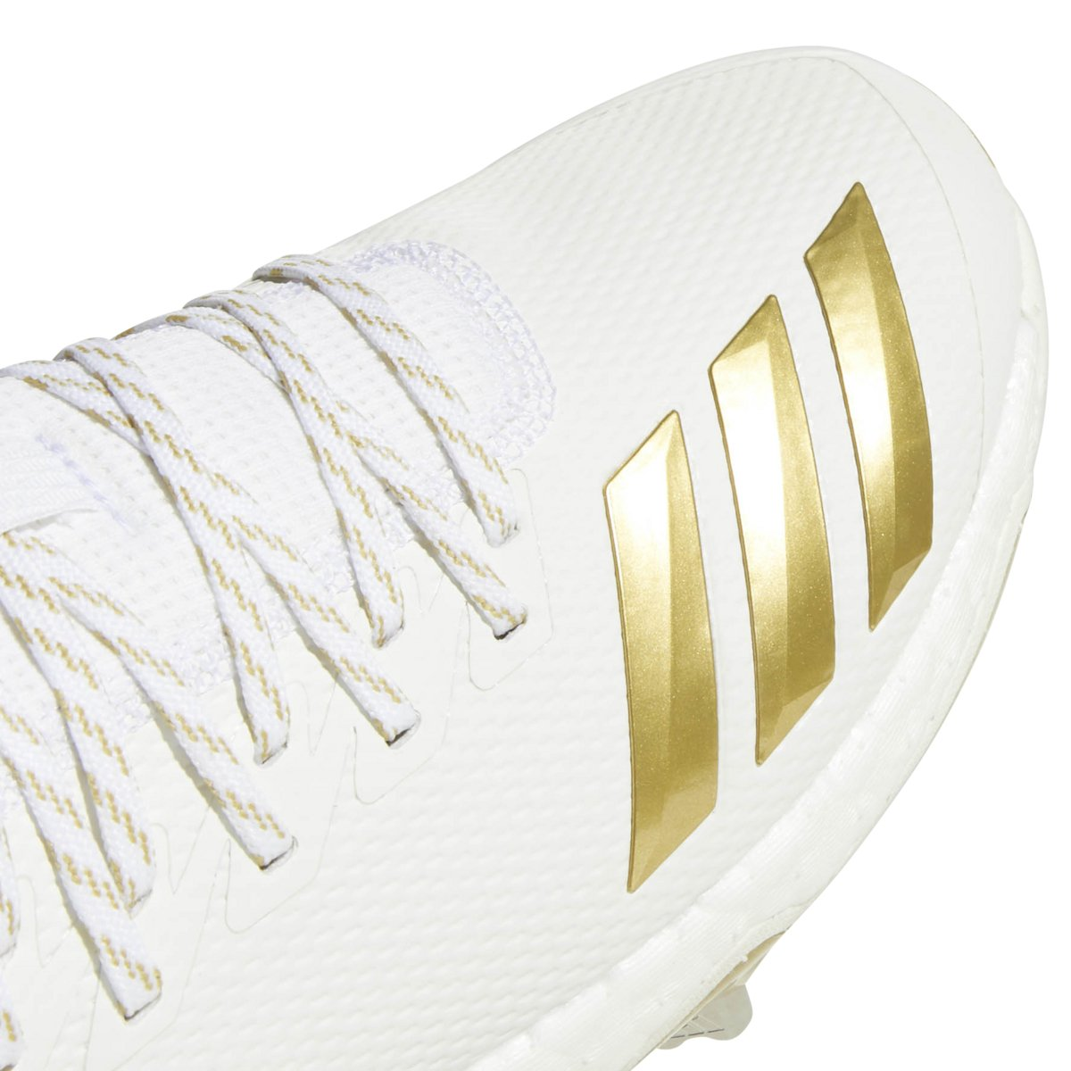 adidas Icon 4 Cleat - Men's Baseball 11 White/Gold Metallic by adidas (Image #5)