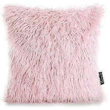 "Muyankissu® Phantoscope Decorative New Luxury Series Merino Style Pink Fur Throw Pillow Case Cushion Cover 18"" x 18"" 45cm x 45cm"