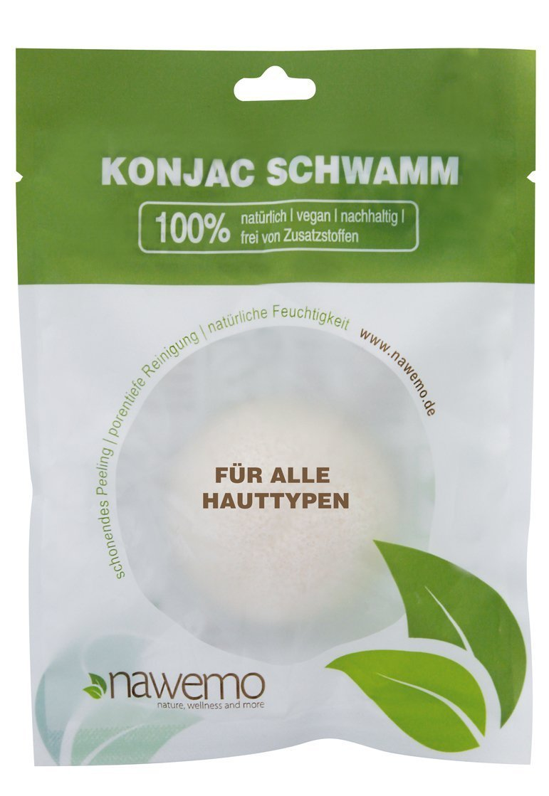 Pure konjac sponge for all skin types Nawemo