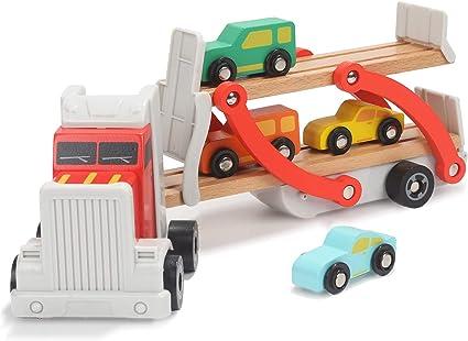 Amazon.com: Juguete de madera brillante para coche para ...