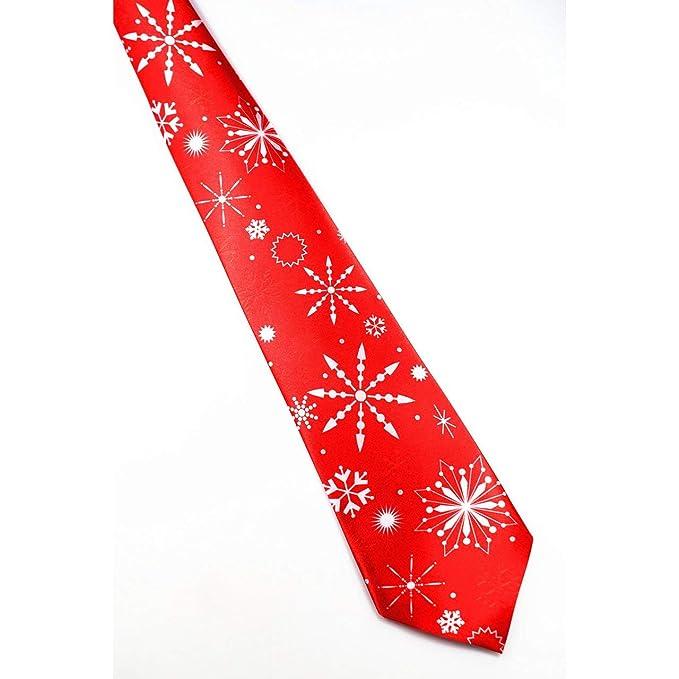 ESjasnyfall Imprimir Corbata de Navidad Corbatas de seda de moda ...