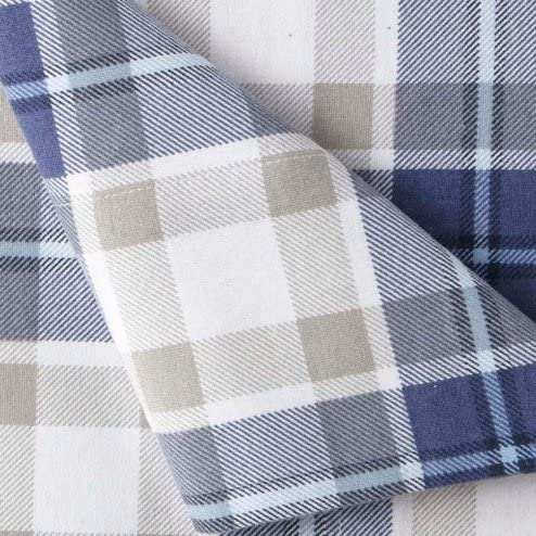 jcp home 100/% Cotton Heavyweight Flannel Sheet Set Blue Twin XL Red Plaid