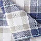 JCP Home 100% Cotton Heavyweight Flannel Sheet Set Modern Plaid (Twin, Blue)
