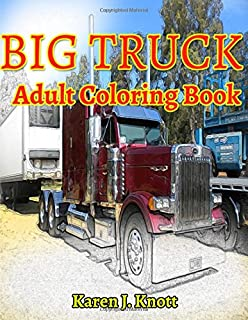 BIG TRUCK Adults Coloring Books Sketches Book Relaxation Meditation Blessing