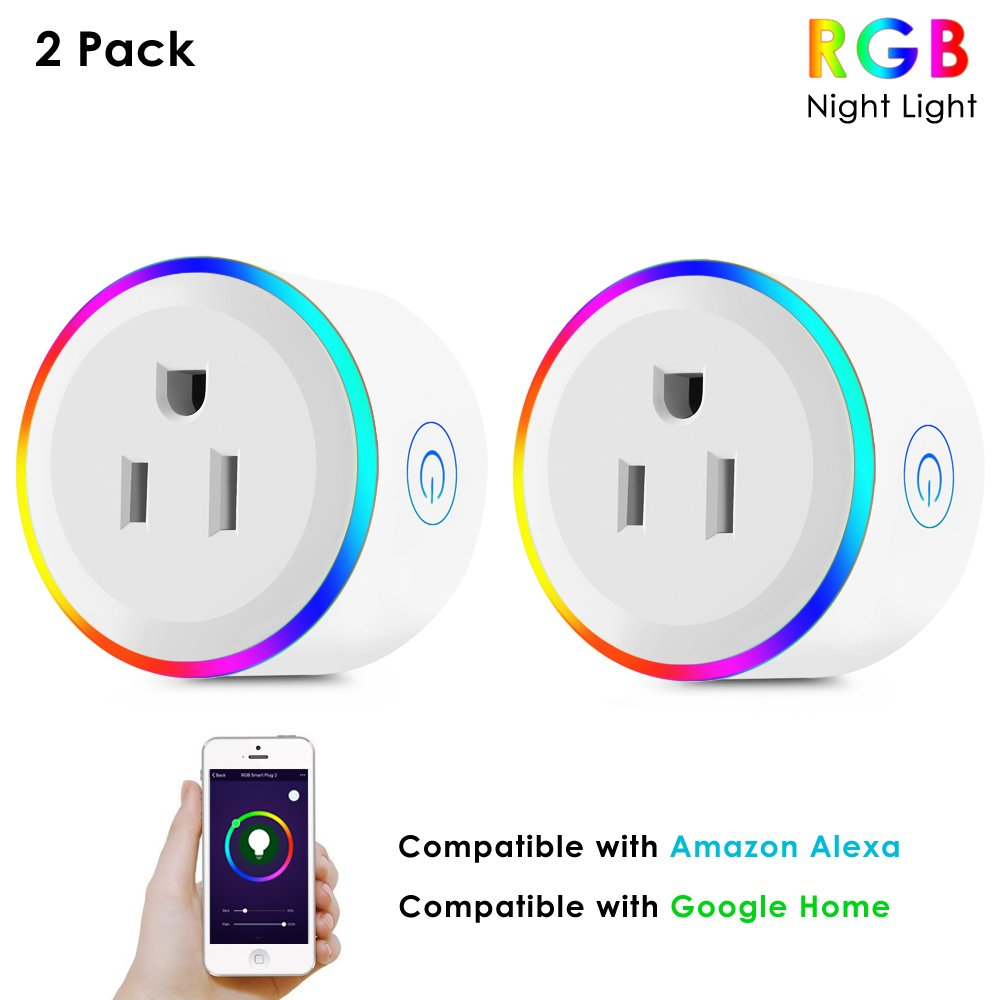 Wifi Smart Plug, Mini Smart Outlet Socket Works with Amazon Alexa Echo and Google Assistant,Remote Control Your Appliances by Smartphone with Timing Function, No Hub Required by Mesuvida