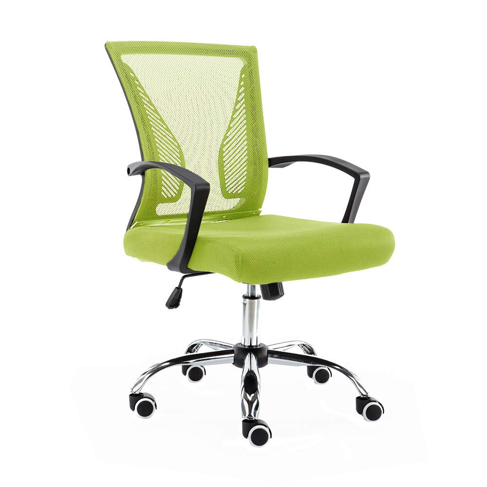 Modern Home BKLIME Zuna Mid - Back Office Chair, Black/Lime