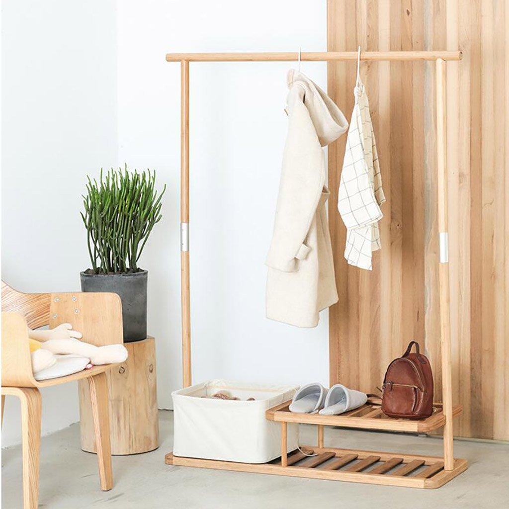 コートスタンド、家庭用品コートと帽子のスタンドコート竹木製クリエイティブストレージ棚ハンガー B07DPBNYSX