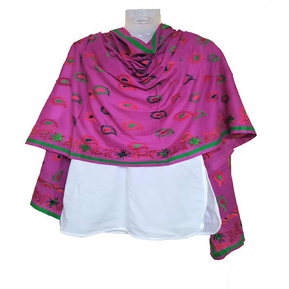 Divine India Cotton Embroidered Women Dupatta