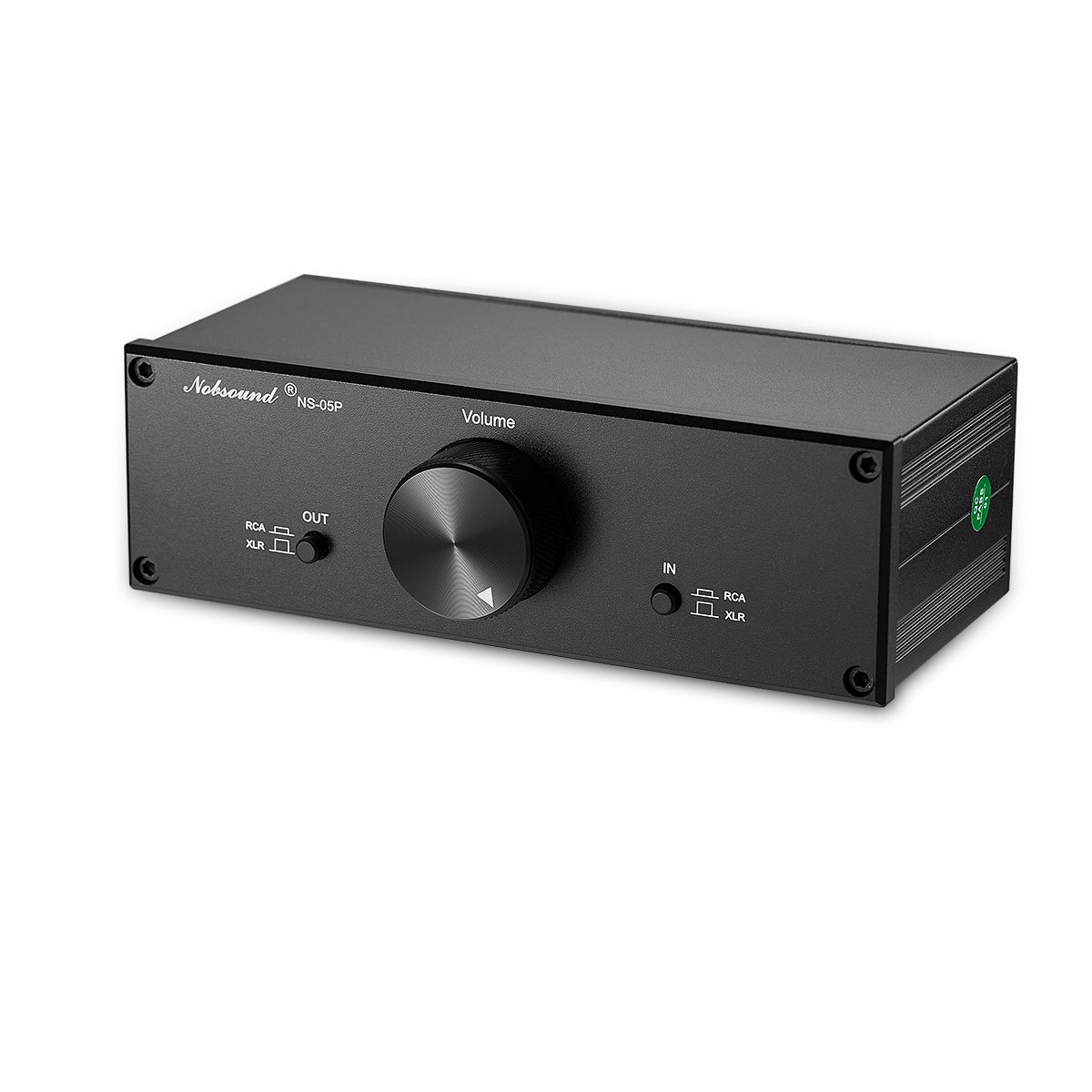 Nobsound Mini Fully-Balanced/Single-Ended Passive Preamp; Hi-Fi Pre-Amplifier; XLR/RCA Volume Controller for Active Monitor Speakers (Black)