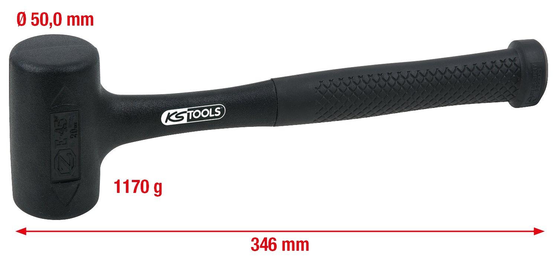 860g KS Tools 140.5256 R/ückschlagfreier Schonhammer