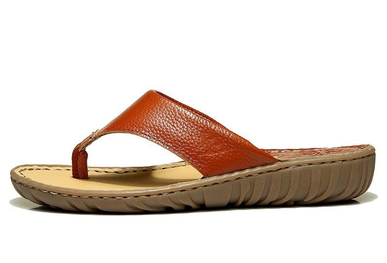 Insun Damen Sandalen Zehentrenner Normal Flach Ohne Verschluss Pantoletten Schuhe Gelb 38 dQdfcsD61O