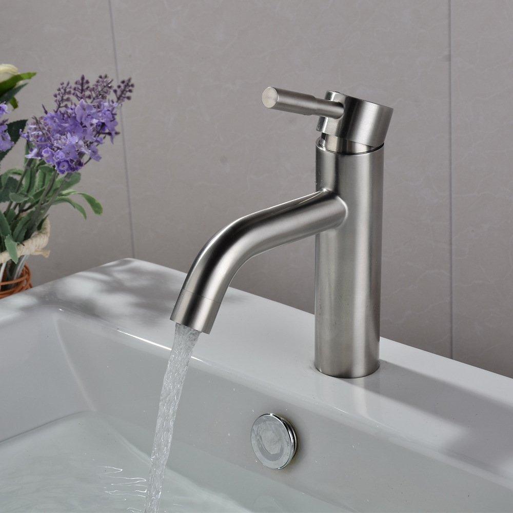 Kokeruup Wasserhahn Einhand-Einloch-Waschbecken mit heißem und kaltem Mischer