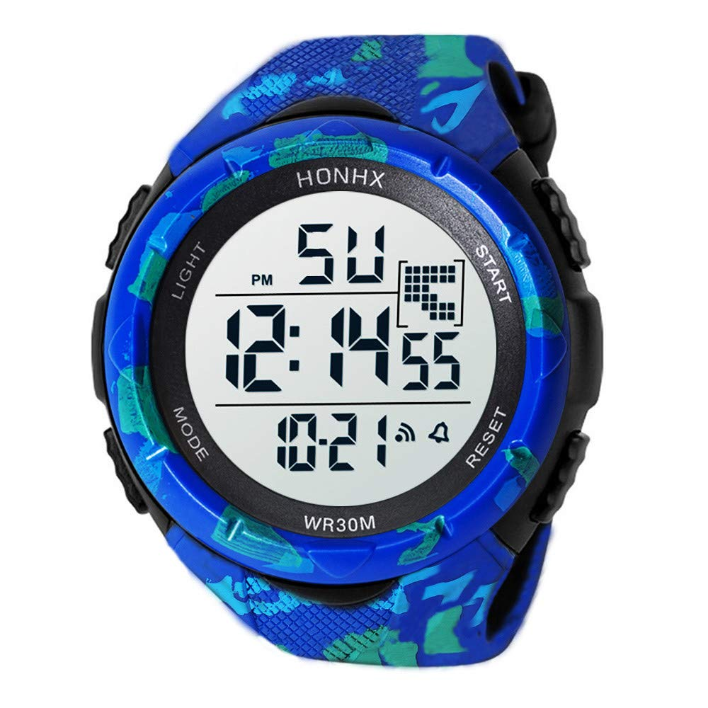 Amazon.com: Digital Watches for Men DYTA 5ATM Water Resistant Outdoor Wrist Watches LED Sport Watch on Sale on Clearance Military Quartz Watchs with Rubber ...