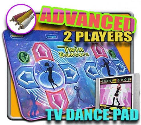 2 Players Dance Dance Revolution Blue Twin DDR TV Pad