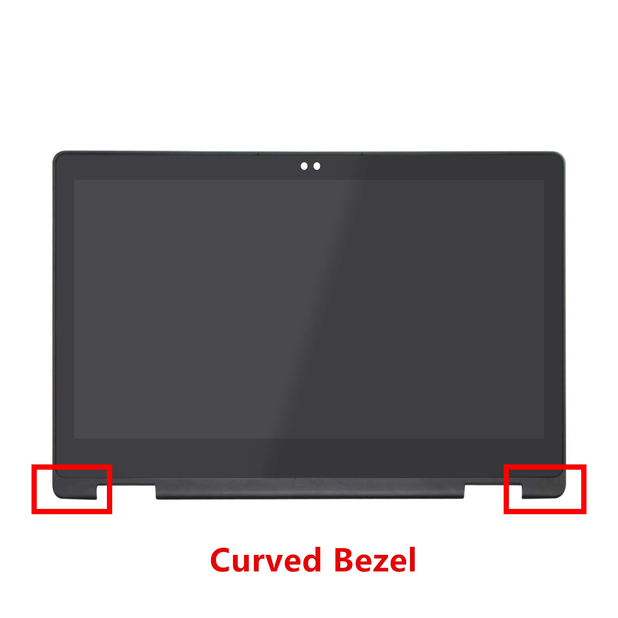 LCDOLED 13.3 inch FullHD 1080P B133HAB01.0 / NV133FHM-N41 LED LCD Display Touch Screen Digitizer Assembly + Curved Bezel for Dell Inspiron 13 P69G P69G001 (NOT for LP133WF2/NV133FHM-N45/N133HCE-EAA)