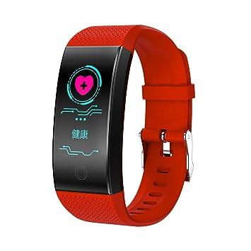 PINCHU QW18 Smart Watch Smartwatch Bluetooth Reloj Digital Muñeca Reloj Deportivo IP68 Teléfono con Los Hombres para iPhone Android Samsung,Red: Amazon.es: ...