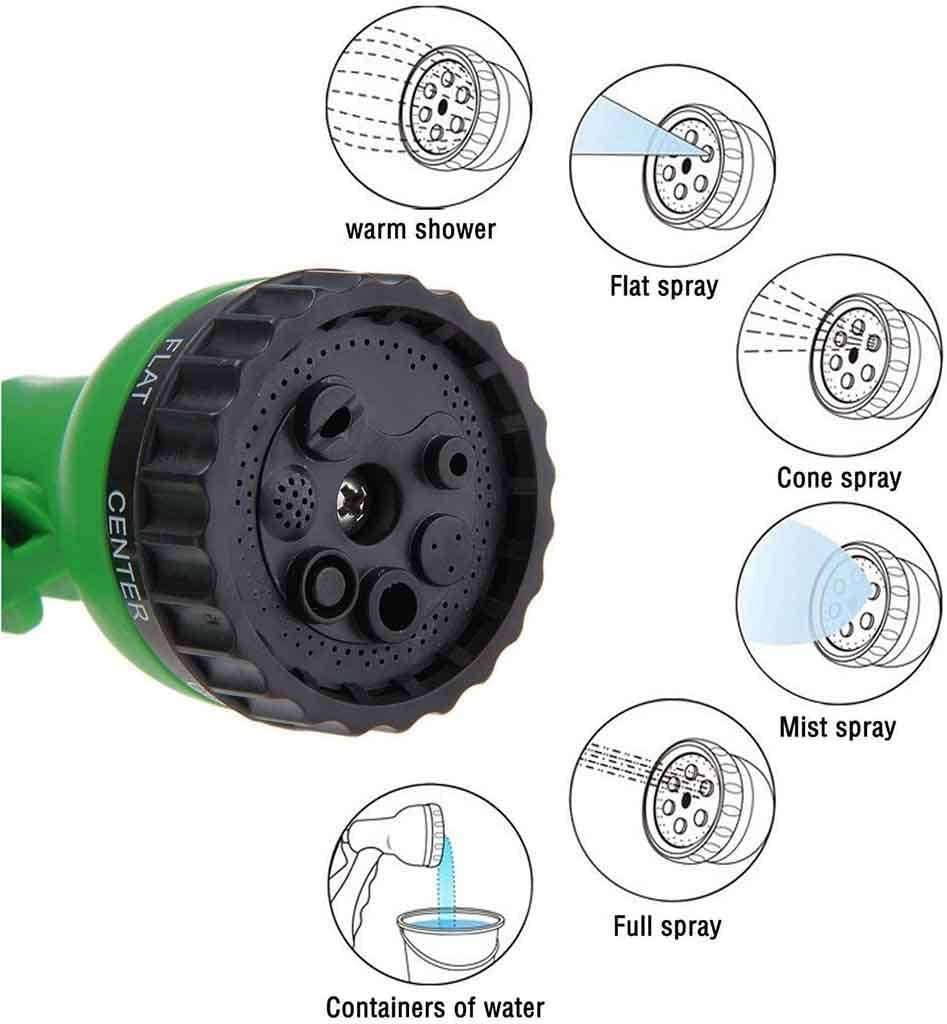 YUIOLIL Garden Hose Expandable Pipe,100Ft Prayer Gun For Washing Car Watering Cleaning Windows Floor-22M 7.5M