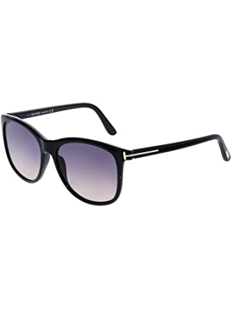 4d9a16cdc66 Tom Ford Women s Fiona-02 FT0567-01B-56 Black Square Sunglasses at ...