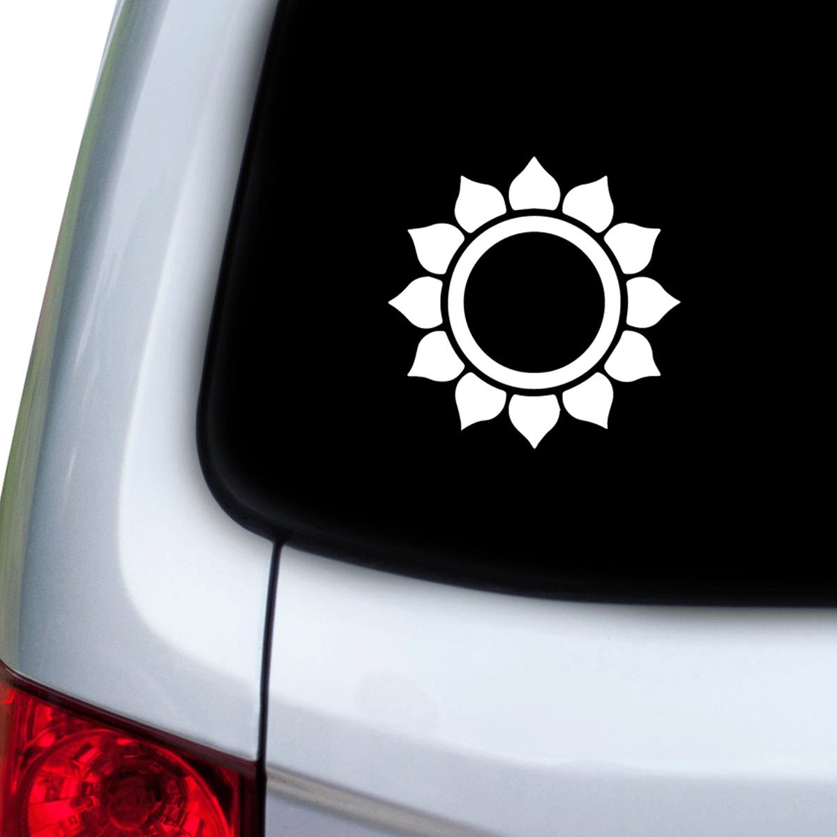 Hoods Doors StickAny Car and Auto Decal Series Sun Flower Modern Sticker for Windows White