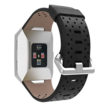 Sannysis fitbit ionic correas cuero artificial reemplazo Fitbit Ionic funda protector banda de repuesto diseño hueco para Fitbit Ionic Pulsera ...
