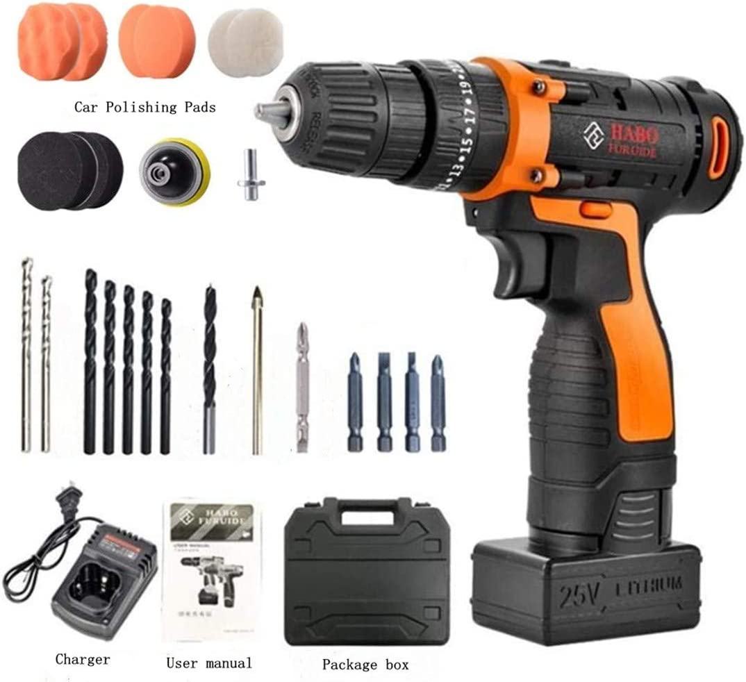 8 Speed Adjustment 18-piece Set Polished electric drill machine Auto Polisher Easy to Grip One-handed Work Convenient to Carry with Polishing Work Buff Set Car Cordless Variable Speed Polisher Kit