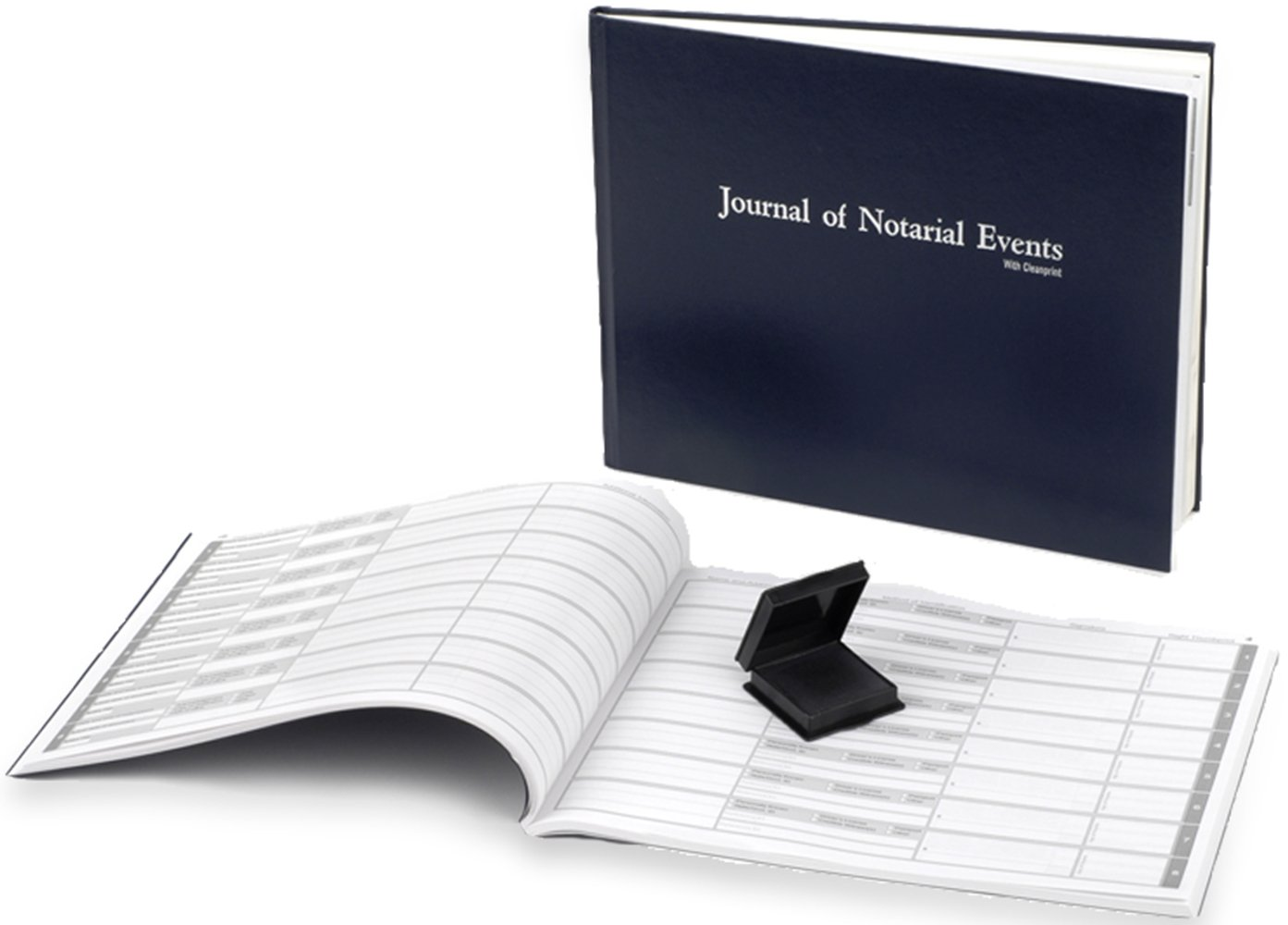 Notary Journal with Clean Print Technology with Ink-less Fingerprint Ink Pad 488 Entries Works in all 52 States Official Notarial Acts Records Log Book Premium Professional Quality (Soft Cover)