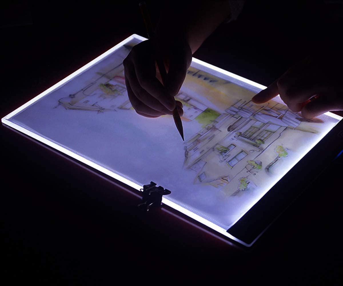 Tracing Light Box A4 Ultra-Thin Portable Tracer with USB Power Cable Dimmable Artcraft Pad for Artists Designing Drawing Sketching Animation Stencilling X-ray Viewing