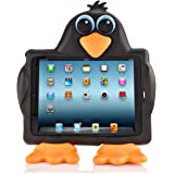 Koooky Tux the Penguin Children's Apple iPad Air Tablet Case - Drop, Shock and Scratch Resistant tablet case with car headrest travel attachment - for Apple iPad Air, Air 2