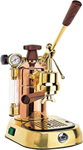 La Pavoni PB-16 Professional Copper/Brass Lever Espresso Machine; 38 oz boiler capacity; Capable of making 16, 2 oz cups of espresso; Makes one or two cups at a time