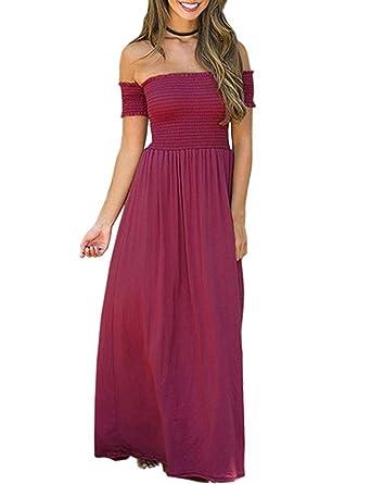 33590ea970e6 Amazon.com  Barbella Women s Strapless Tube Solid Short Sleeve Long ...