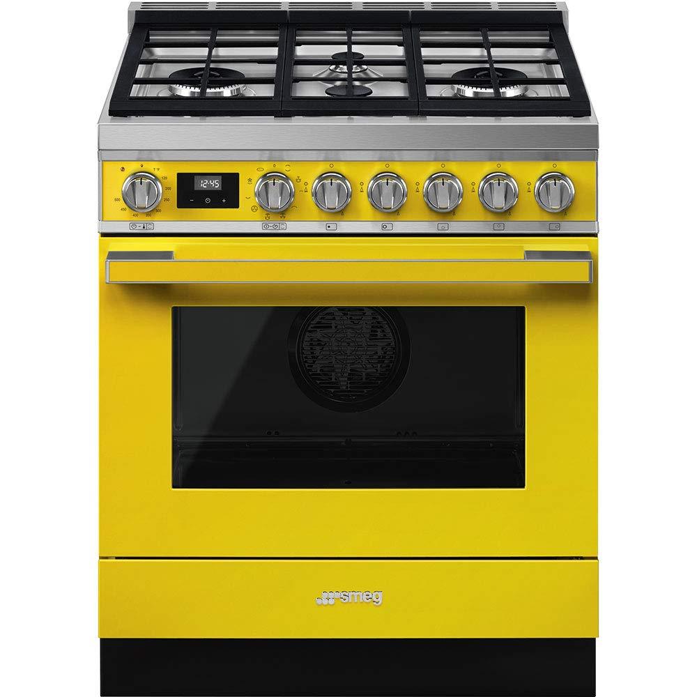 Smeg-Portofino-Aesthetic-Pro-Style-30-Inch-Freestanding-Dual-Fuel-Range-Yellow