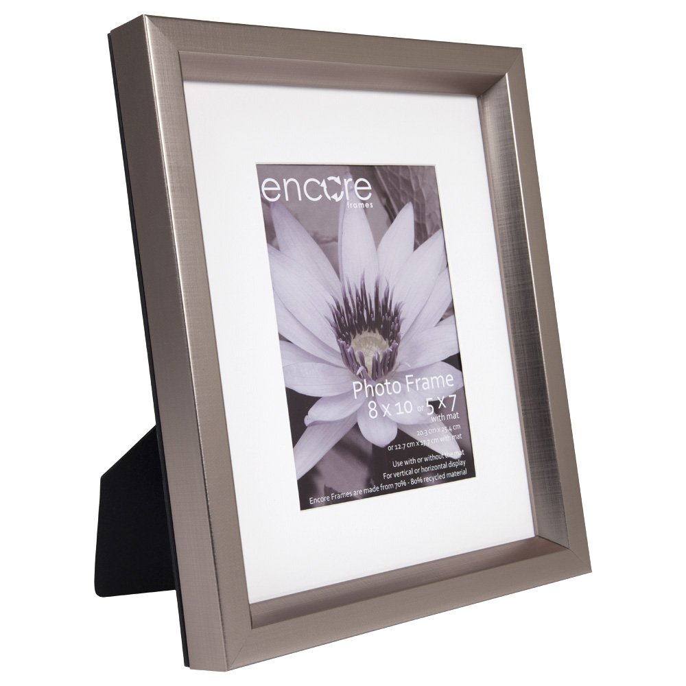 Amazon.com - 8x10 Beveled Etched Pewter Photo Frame - Single Frames